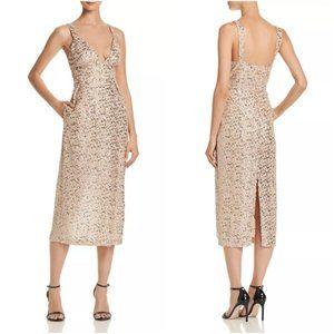 JILL STUART Sequined Midi sneath Dress coctail  8